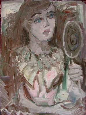 Dana Zivanovits Artwork ACTRESS WITH MIRROR, 2004 Oil Painting, Theater