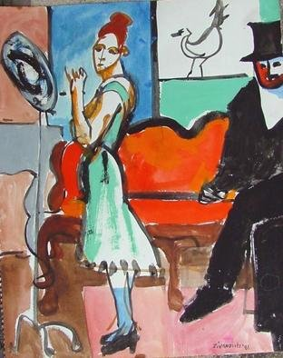 Artist: Dana Zivanovits - Title: AFTER MANET 2 - Medium: Watercolor - Year: 1981