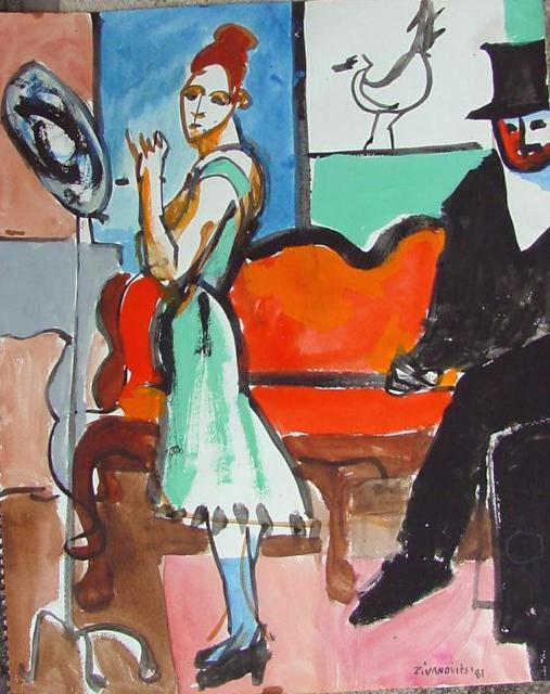 Dana Zivanovits  'AFTER MANET 2', created in 1981, Original Painting Other.