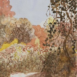 Dana Zivanovits Artwork AUTUMN TRAIL, 2010 Watercolor, Landscape