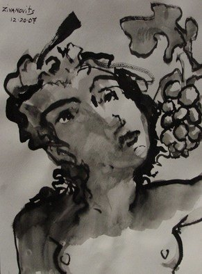 Dana Zivanovits: 'BACCANTI', 2008 Ink Painting, Mythology. Artist Description:  This drawing was done in india ink on acid free Fabriano watercolor paper. ...