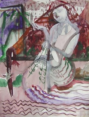 Artist: Dana Zivanovits - Title: BARRACUDA - Medium: Watercolor - Year: 1983