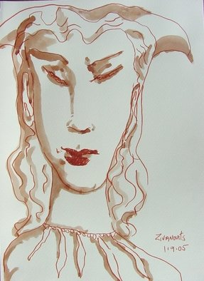 Artist: Dana Zivanovits - Title: BEAUTIFUL FOOL - Medium: Watercolor - Year: 2005