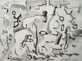 Artist: Dana Zivanovits - Title: BLACK STOCKINGS - Medium: Watercolor - Year: 2013