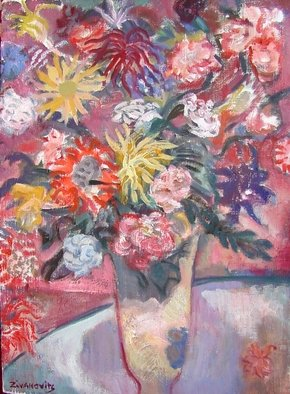 Dana Zivanovits Artwork BOUQUET, 2001 Oil Painting, Floral