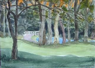 Artist: Dana Zivanovits - Title: BRIDGE IN WOODS - Medium: Watercolor - Year: 2006