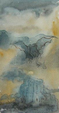 Artist: Dana Zivanovits - Title: CASTLE OF DRACULA - Medium: Watercolor - Year: 2006