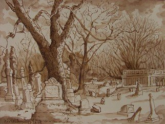 Artist: Dana Zivanovits - Title: CEMETERY 1 - Medium: Watercolor - Year: 2009