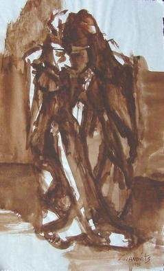 Artist: Dana Zivanovits - Title: DESPAIR - Medium: Watercolor - Year: 1981