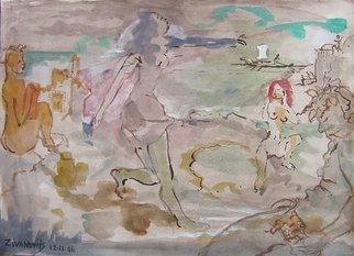 Artist: Dana Zivanovits - Title: DIDO AND AENEAS - Medium: Watercolor - Year: 2006