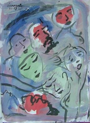 Artist: Dana Zivanovits - Title: FACES - Medium: Watercolor - Year: 2003
