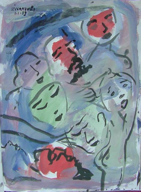 Dana Zivanovits  'FACES', created in 2003, Original Painting Other.