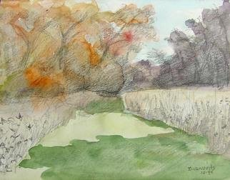 Artist: Dana Zivanovits - Title: FALL FIELD - Medium: Watercolor - Year: 2006