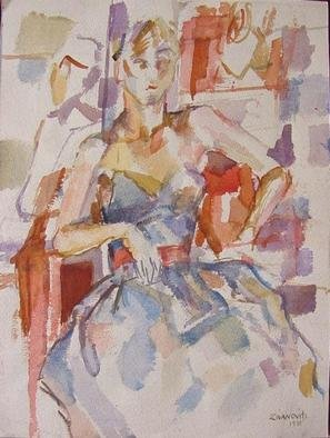 Artist: Dana Zivanovits - Title: FASHION MODEL - Medium: Watercolor - Year: 1981