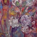 FLOWERS AND FIGURE By Dana Zivanovits