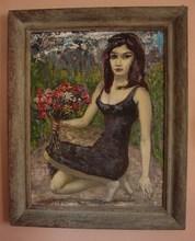- artwork FLOWER_GIRL-1318737748.jpg - 2002, Painting Oil, Figurative
