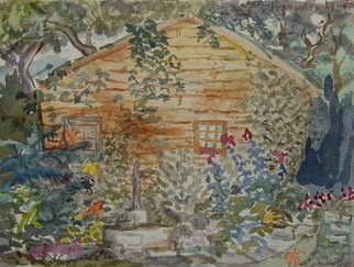 Artist: Dana Zivanovits - Title: GARDEN SHED - Medium: Watercolor - Year: 2007
