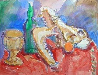 Artist: Dana Zivanovits - Title: HOG SKULL STILL LIFE - Medium: Watercolor - Year: 1981