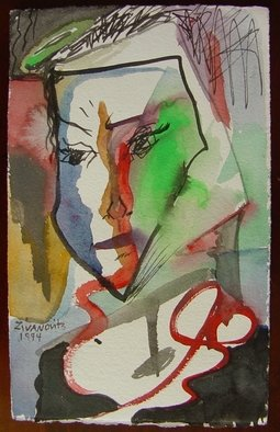 Artist: Dana Zivanovits - Title: JEALOUSY - Medium: Watercolor - Year: 1994