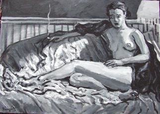 Dana Zivanovits Artwork JESSICA, 2002 Acrylic Painting, Nudes