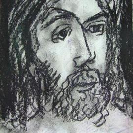 Dana Zivanovits: 'JESUS CHRIST', 1999 Charcoal Drawing, Christian. Artist Description:  Depiction of Christ in charcoal on acid free paper. A signed Zivanovits original. ...