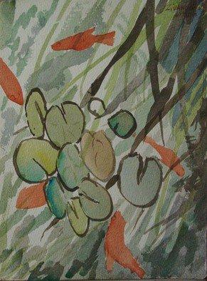 Artist: Dana Zivanovits - Title: KOI POND - Medium: Watercolor - Year: 2013