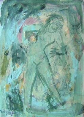 Artist: Dana Zivanovits - Title: LAWN SPRINKLER - Medium: Watercolor - Year: 1998