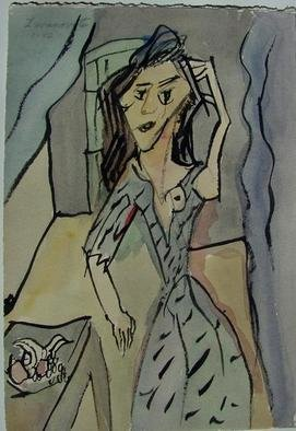 Artist: Dana Zivanovits - Title: MAD WOMAN - Medium: Watercolor - Year: 1998