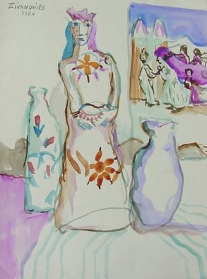 Artist: Dana Zivanovits - Title: MEXICAN STILL LIFE - Medium: Watercolor - Year: 1984