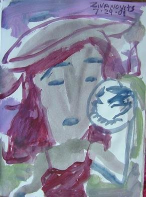 Artist: Dana Zivanovits - Title: MIRROR MIRROR - Medium: Watercolor - Year: 2002