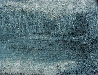 Dana Zivanovits Artwork NIGHT FISHING, 2009 Other Drawing, Landscape