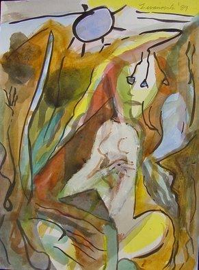 Artist: Dana Zivanovits - Title: PANDORA - Medium: Watercolor - Year: 1989