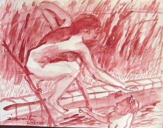 Artist: Dana Zivanovits - Title: RED SWIMMERS - Medium: Watercolor - Year: 1998