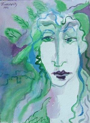 Artist: Dana Zivanovits - Title: ROMAN - Medium: Watercolor - Year: 1991