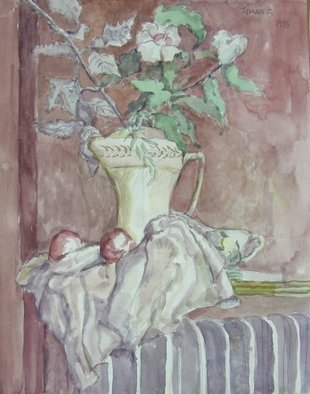 Artist: Dana Zivanovits - Title: ROSE OF SHARON - Medium: Watercolor - Year: 1985