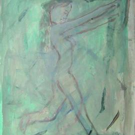 Dana Zivanovits: 'SLEEP WALKER', 1998 Acrylic Painting, nudes. Artist Description:  This is a watercolor done on acid free sketch paper- a signed and dated Zivanovits original. Size; 8 1/ 2