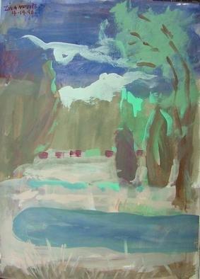 Artist: Dana Zivanovits - Title: SPRING RAINS - Medium: Watercolor - Year: 1998