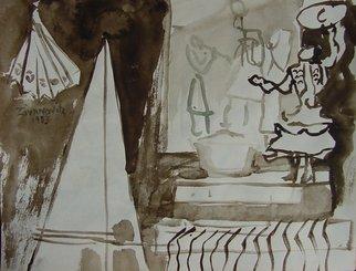 Artist: Dana Zivanovits - Title: STUDIO - Medium: Watercolor - Year: 1983
