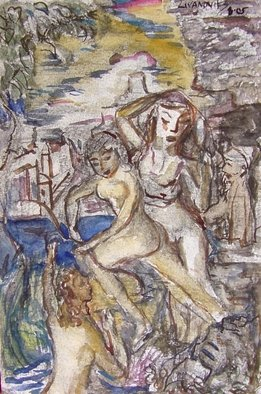 Artist: Dana Zivanovits - Title: TROJAN WOMEN - Medium: Watercolor - Year: 2005