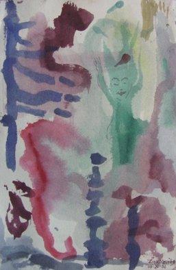 Artist: Dana Zivanovits - Title: UNDERWATER CAVE - Medium: Watercolor - Year: 2006