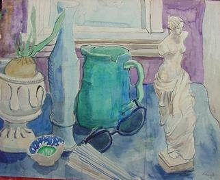 Artist: Dana Zivanovits - Title: VENUS STILL LIFE - Medium: Watercolor - Year: 1981