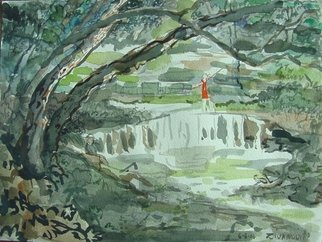 Artist: Dana Zivanovits - Title: WATERFALL - Medium: Watercolor - Year: 2006