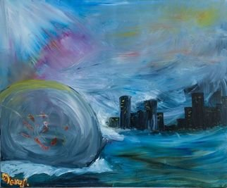 Zlatka Yankova: 'end of the world', 2017 Oil Painting, Abstract. Artist Description: oil, canvas...