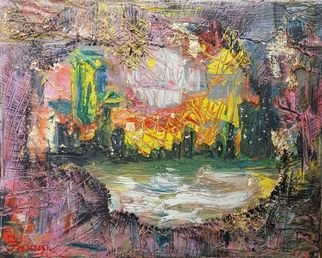 Zlatka Yankova: 'the lost city', 2019 Oil Painting, Abstract. Artist Description: oil, canvas...