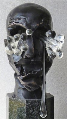 Bronze Sculpture by Zoja Trofimiuk titled: Despair from Raw Emotions series, 2012