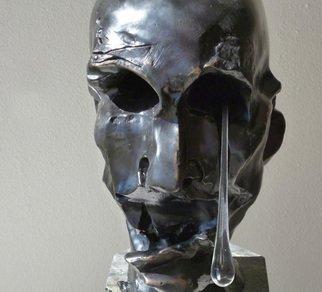 Bronze Sculpture by Zoja Trofimiuk titled: Sorrow, 2012