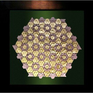 Parastoo Zomorrod: 'hexagon nesting', 2017 Paper, Geometric. Artist Description: origami, tessellation, hexagon, golden...