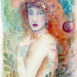 Christa Skoff Oglan: 'Aurora', 2006 Acrylic Painting, Ethereal.