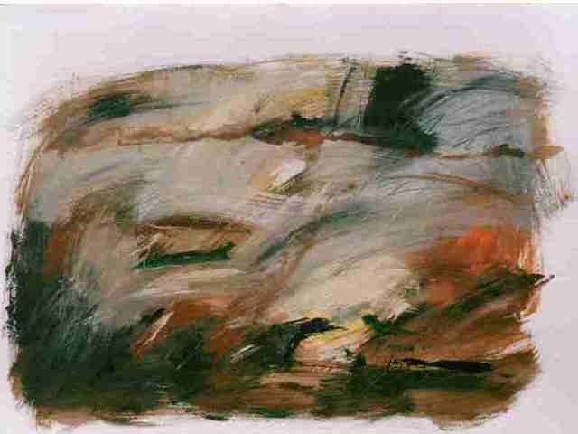 Artist Christa Skoff Oglan. 'Sienna Landscape' Artwork Image, Created in 2009, Original Painting Oil. #art #artist