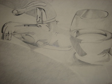 - artwork Glass_and_Faucet-1180830672.jpg - 2006, Drawing Pencil, Still Life